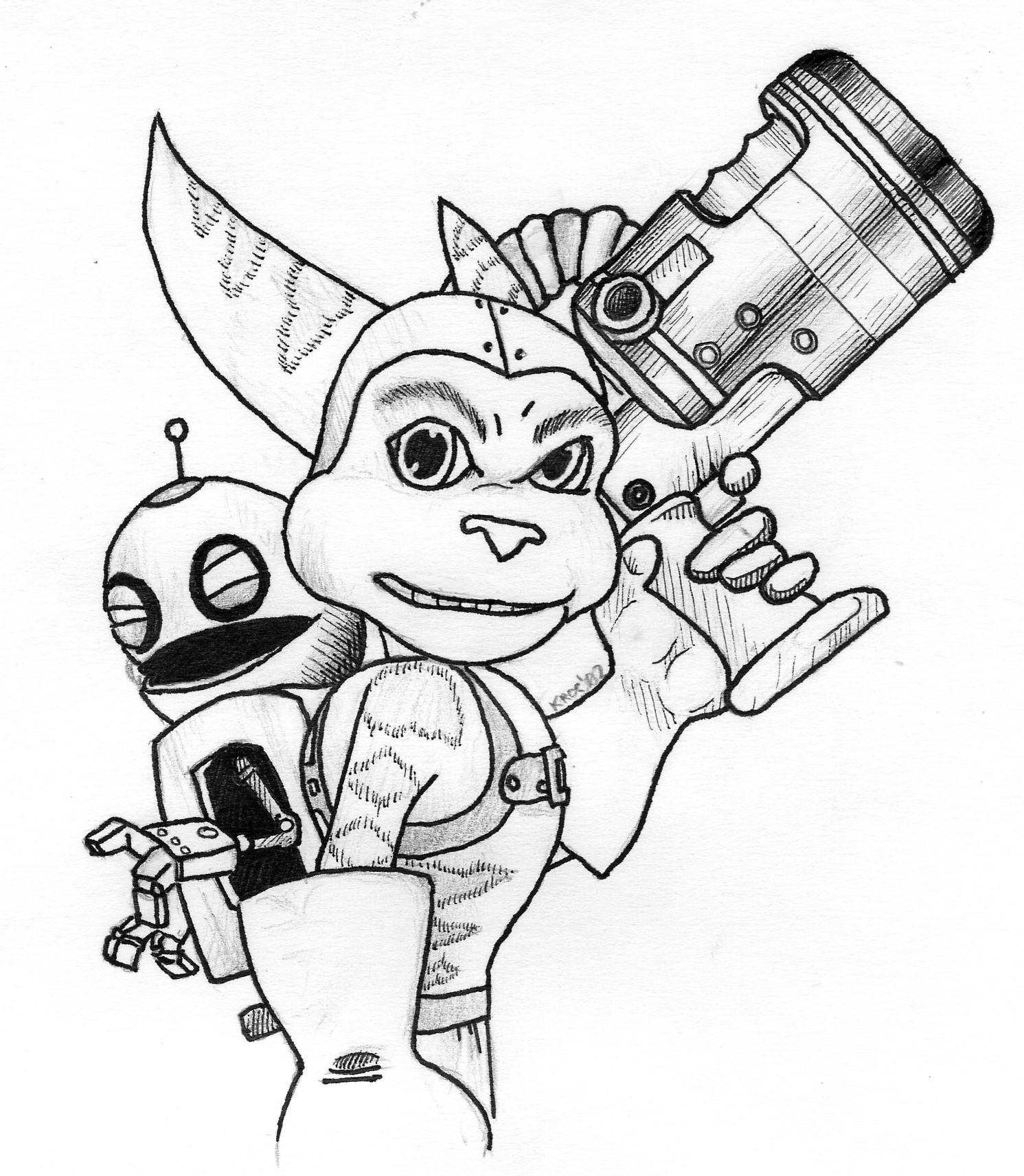 Ratchet E Clank Coloring Pages Ratchet And Clank Coloring Pages