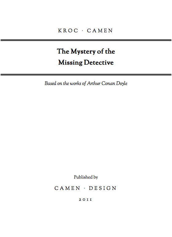 "Front cover of the text-adventure book ""The Mystery of the Missing Detective"""