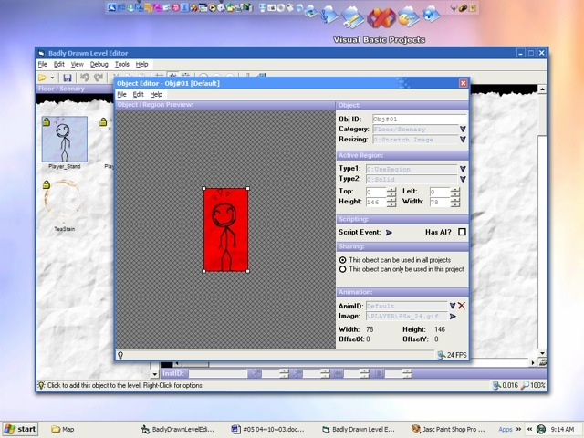 Screenshot of the Badly Drawn Object Editor