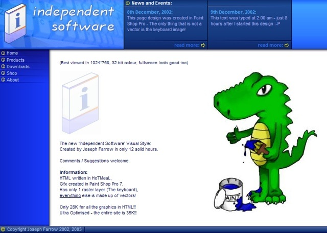 'Independent Software' website screenshot
